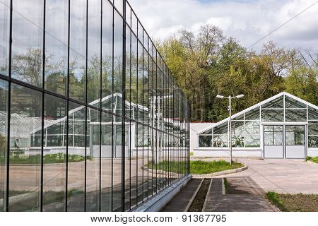 Large Greeenhouse With Reflections