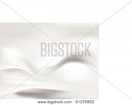 White Silk Smooth Flow Background Vector