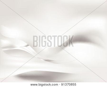 White Silk Smooth Flow Background Vector