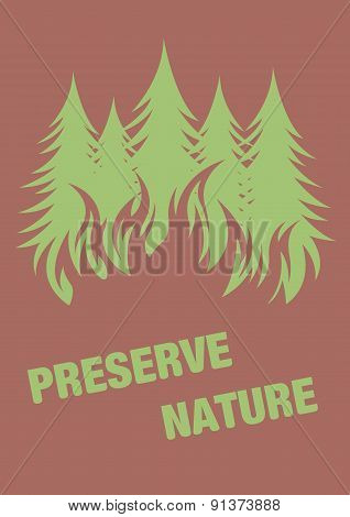 Warning poster.  Protect the environment.