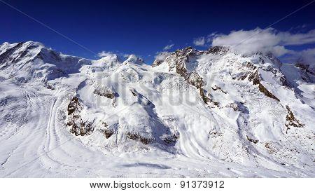 Snow Alps Mountains View