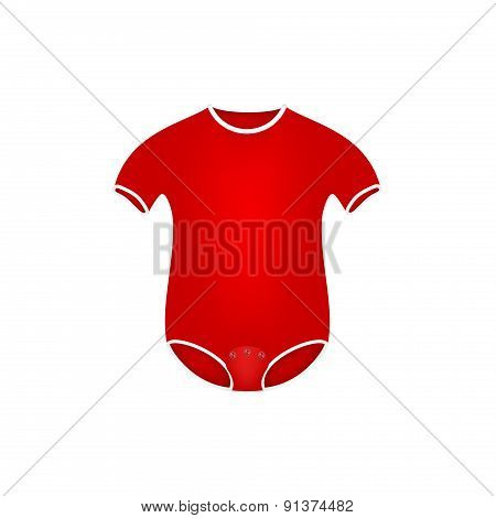 Clothing for newborn in red design
