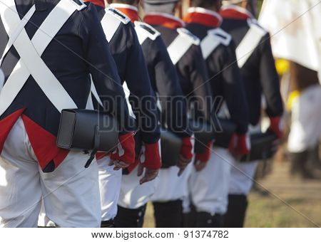 French Army Marching