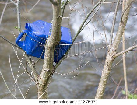 Plastic Bottle Trash Branches Tree