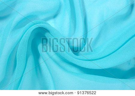 Blue Crepe De Chine Fabric