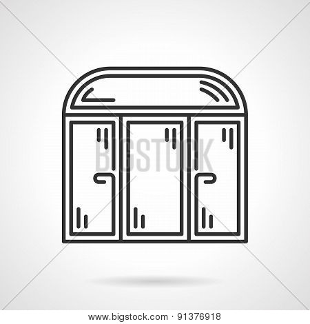 Store window black vector icon