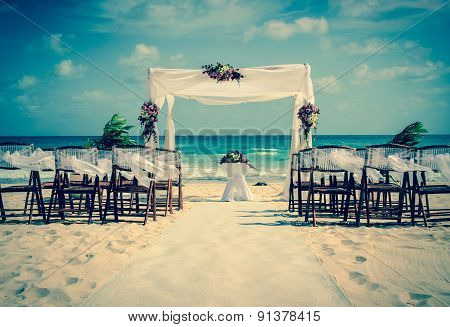 Wedding Altar On The Beach