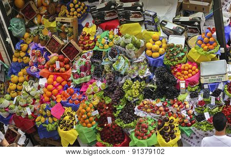 Tropical Fruit Boxes At Sao Paulo Market