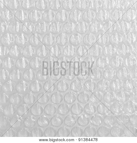 Background of the air bubble wrap foil.