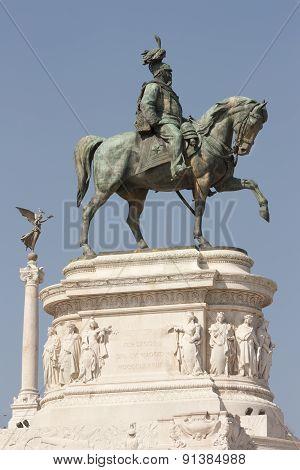 Statue Of Vittorio Emanuele Ii