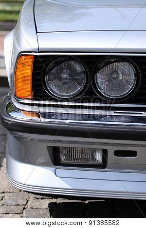 Old Retro Or Vintage Car Or Automobile