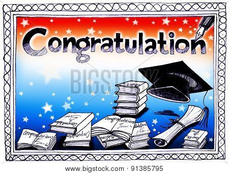 Congratulation Books Hat