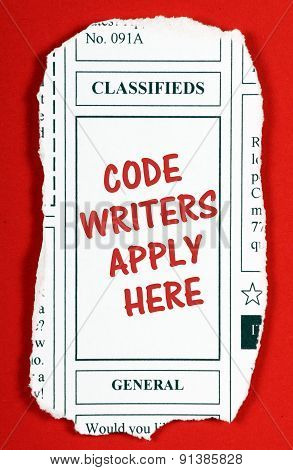 Code Writers Apply Here