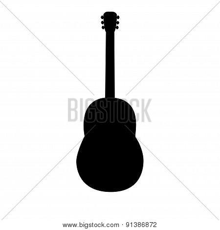 black guitar silhouette