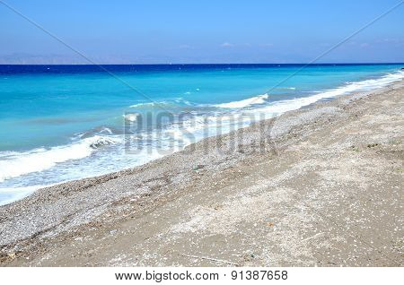 Beach Surrounding Rhodes City