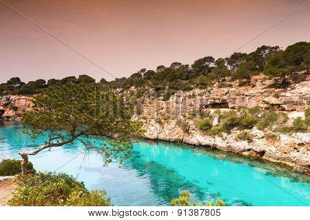 Turquiose Waters Of Cala Pi