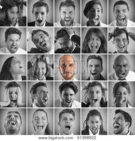 Smile between screams