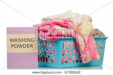 Washing powder and dirty clothes