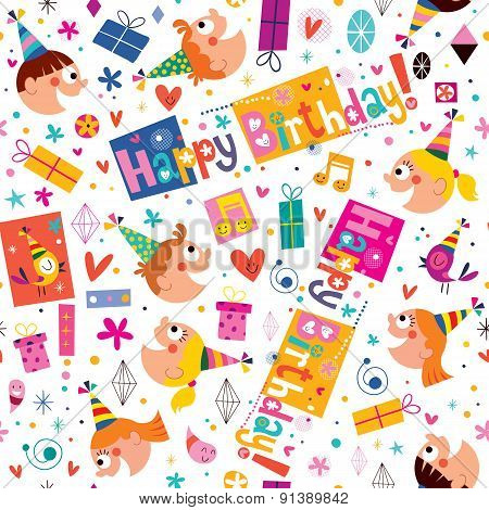 Happy Birthday kids pattern