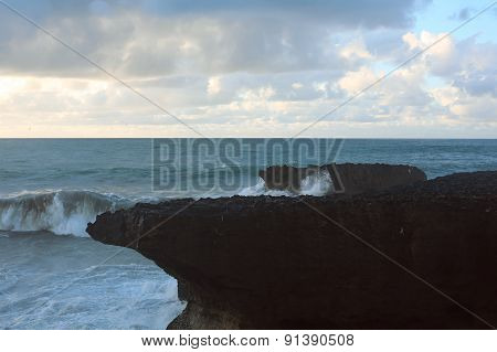 Cliff On The Background Of The Sea