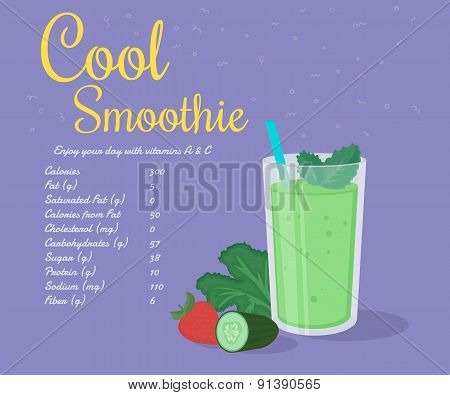 Green cool smoothie