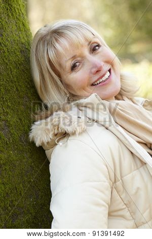 Portrait mature woman outdoors