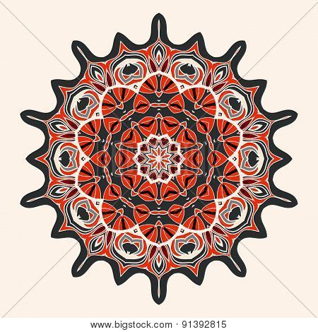 Vector circular pattern background, vector illustration with space for your text. Kaleidoscope manda