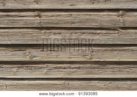 Old Shabby Wooden Wall Background