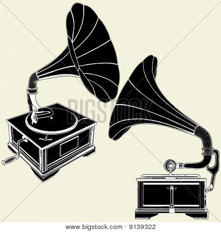 Antique Gramophone Vector 01.eps