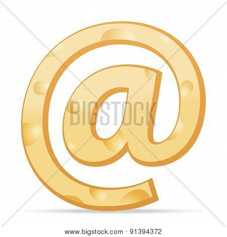 Cheese Email Symbol