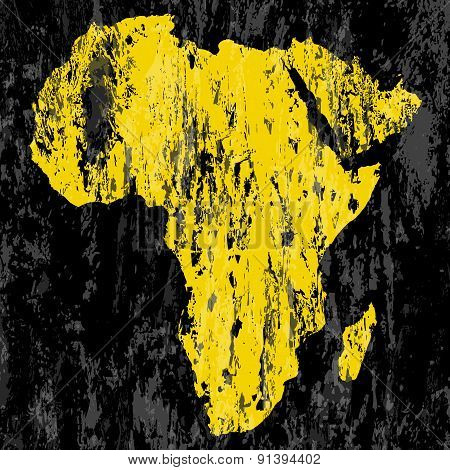 Grunge Africa Map
