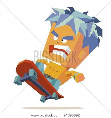 skater boy isolated.vector illustration