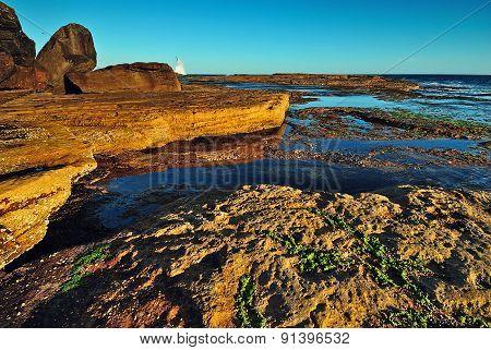 Orange Cliffs Seascape