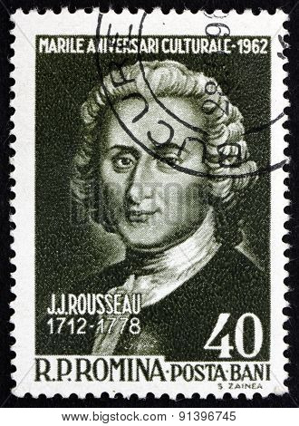 Postage Stamp Romania 1962 Jean Jacques Rousseau, Genevan Philosopher
