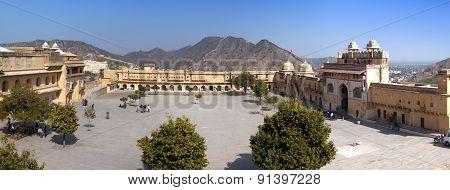 India. Jaipur. Amber fort panorama