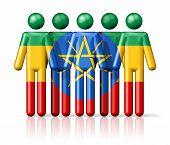 picture of ethiopia  - Flag of Ethiopia on stick figure  - JPG