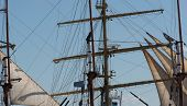 pic of mast  - Ship Mast in front of a cloudless sky - JPG