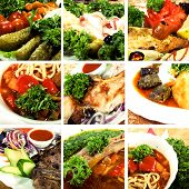 stock photo of collate  - Collage of dishes - JPG