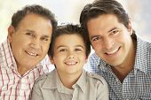 stock photo of hispanic  - Portrait Of Hispanic Grandfather - JPG