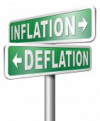 pic of crisis  - inflation deflation bank crisis or financial and economic recession or stock market rise