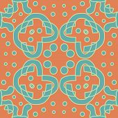 picture of symmetry  - Seamless symmetry of yellow and green lines - JPG
