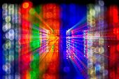 picture of bangladesh  - this  is a bokeh of a building in Bangladesh decorated for wedding - JPG
