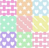 stock photo of girlie  - This is the pastels girlie pattern - JPG