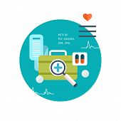 picture of emergency treatment  - Set of flat design vector illustration concepts for health care - JPG