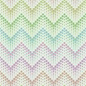 foto of zigzag  - Herringbone geometric zigzag and dotted color seamless pattern or background - JPG