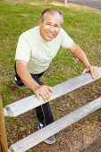 picture of hairline  - Senior man exercising - JPG