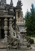 foto of postman  - Image of ideal Palace of Postman Cheval France - JPG