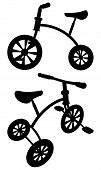 pic of tricycle  - Entertainment Nostalgic Children Tricycle Isolated Illustration Vector - JPG