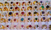 image of precious stones  - Jewelry made of precious stones and colored stones - JPG
