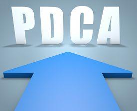 stock photo of plan-do-check-act  - PDCA  - JPG